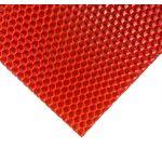 Лист Вощины 40 на 25 см, цвет красный