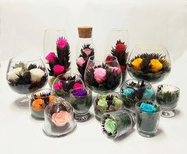Стабилизированные цветы в стекле